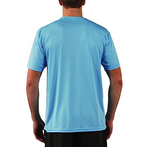 Vapor Apparel Men's Solar Performance UPF Short Sleeve T-Shirt Small Columbia Blue