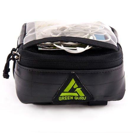 Recycled Bicycle Tubes Dashboard Handlebar Bag by Green Guru Gear