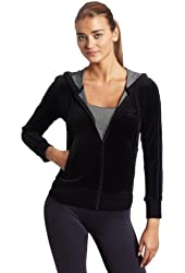 adidas Women's Hooded Velour Track Top