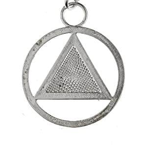 AA Symbol Silver-dipped Pendant Necklace on 18