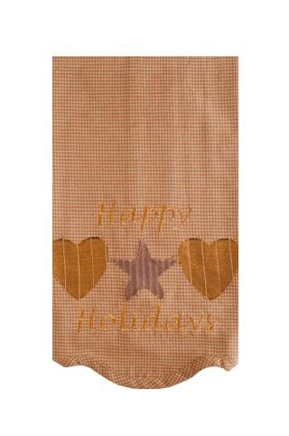 Hearts And Stars Holiday Christmas Tea Towels (Set Of 2)