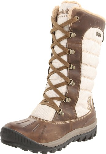 Timberland Women's Mount Holly Lace Duck Taupe Waterproof Boots 1869310 UK