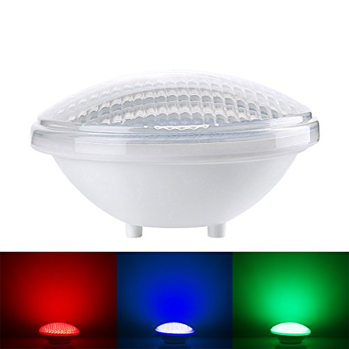 Le Dimmable 18W Rgb Pool Lights, Led Underwater Light, Color Changing, Remote Controller Included, 12V Ac/Dc, Waterproof Ip68, 12 Modes, Pool Light