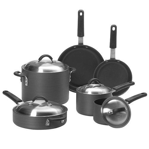 Kitchen Essentials From Calphalon Pro Series 10 Pc Nonstick Cookset Cookware Set