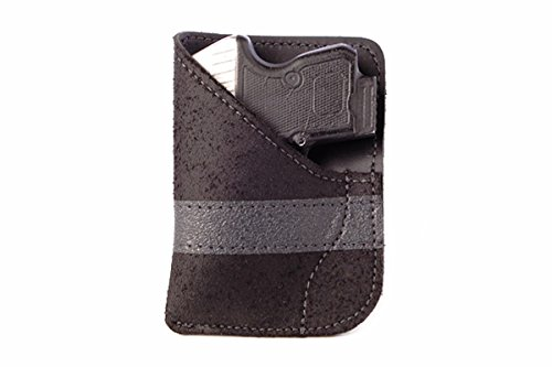 Daltech Force PP2 Small Gun Pocket Holster - Concealed Carry CCW Leather Pocket Gun Holster (Black) (Gun Wallet Holster compare prices)