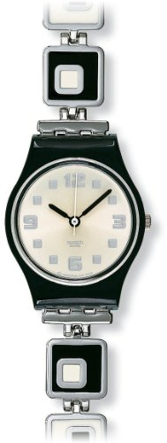 Swatch Ladies Chessboard Silver Dial Bracelet Watch