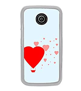 Hearts 2D Hard Polycarbonate Designer Back Case Cover for Motorola Moto E2 :: Motorola Moto E Dual SIM( 2nd Gen) :: Motorola Moto E 2nd Gen 3G XT1506 :: Motorola Moto E 2nd Gen 4G XT1521