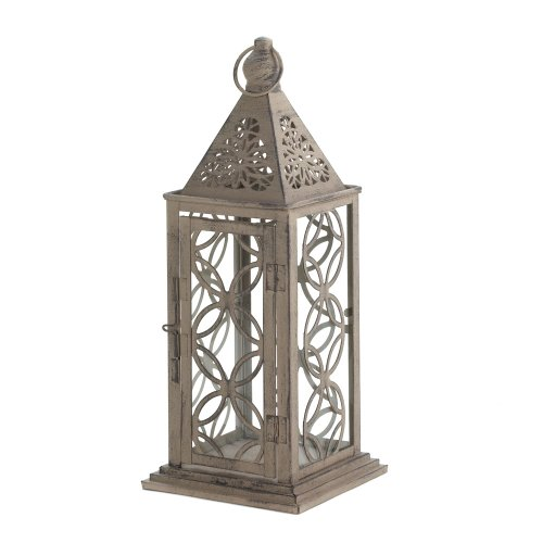 Zingz & Thingz 57071031 Antiqued Distressed Finish Candle Lantern