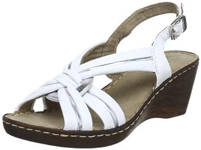 Jana Fashion 8-8-28320-20, Damen Sandalen, Weiß (WHITE/SILVER 191), EU 36