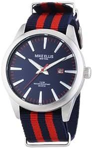 Mike Ellis New York Herren-Armbanduhr XL Analog Quarz Kunstleder 17993/3