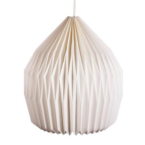 Faltbarer Papierlampenschirm, weiß