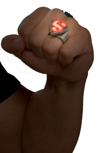 Rubies Superman Metal LED Ring