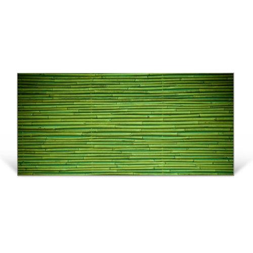 Buntes Memoboard Silber Querformat von banjado mit Motiv Bambus Grün