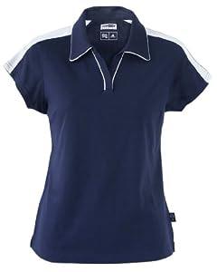 adidas Golf Ladies' ClimaLite Colorblock Polo - Navy/White A44 XXL