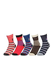 Mickey No.3 Extra Stretchable Cotton Rich Loveable Socks Age Group 6 To 8 Years (Pack Of 5)