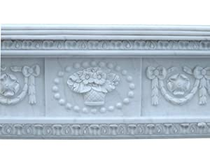 Fireplace facade marble fireplace fireplaces Classicism style white fireplace surround framing from Luxury-Park