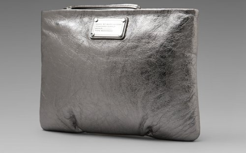 Marc By Marc Jacobs Marc Jacobs Classic Q Tablet Wristlet in Shiny Gunmetal
