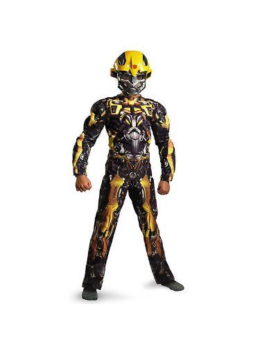 Boys Muscle Transformers 3 Movie Bumblebee Costume