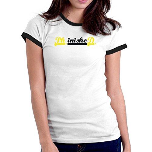phd-finished-ringer-women-t-shirt
