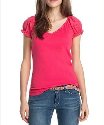 ESPRIT Collection Damen T-Shirt N28604, Gr. 34 (XS), Rot (corallo 808)