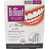 BRILLIANT TEETH WHITENING KIT - GENTLE ACTION FORMULA - 4 SHADES WHITER IN 1 WEEK