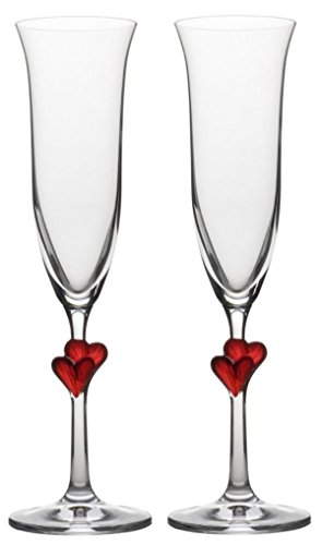 stolzle-lausitz-175-ml-lead-free-crystal-lamour-champagne-flute-red-heart-glass-pack-of-2
