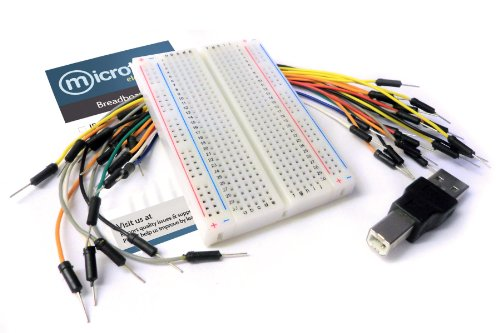 Microtivity Ib402 400-Point Breadboard For Arduino W/ Jumper Wires & Usb Adapter