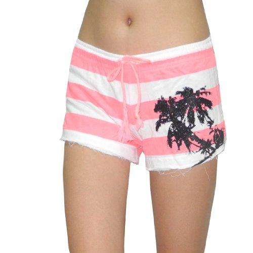 op-ocean-pacific-femme-athletisme-ete-shorts-casual-pink-blanc-medium