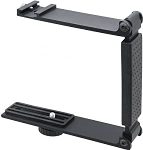 High Quality Aluminum Mini Folding Bracket For Sony Handycam HDR-SR11 (Accommodates Microphones Or Lights)