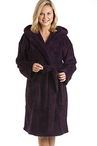 Robe de chambre polaire femme les bons plans de micromonde - Robe de chambre femme polaire avec capuche ...