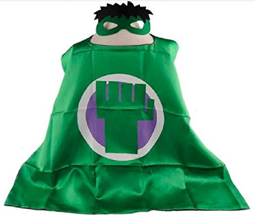 [Hulk Cape + Mask Children Halloween Costume] (Incredible Hulk Costume For Women)