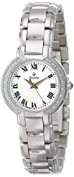 Bulova Women's 96R159 Classic Stainless Steel Diamond-Accented Watch