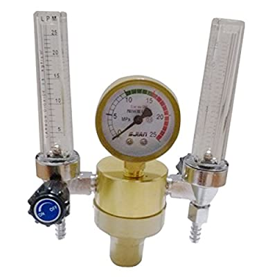 Warrior Dual Tube Argon Regulator Gas Flowmeter for TIG Welding machines Free Shipping