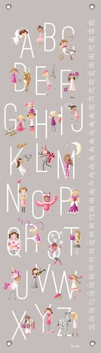 "Oopsy Daisy Growth Chart, G is for Girls, 12"" x 42"""