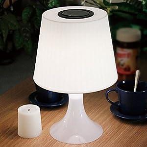 0 25 w contemporaine lampe de table blanc avec led nergie solaire cuisine maison. Black Bedroom Furniture Sets. Home Design Ideas