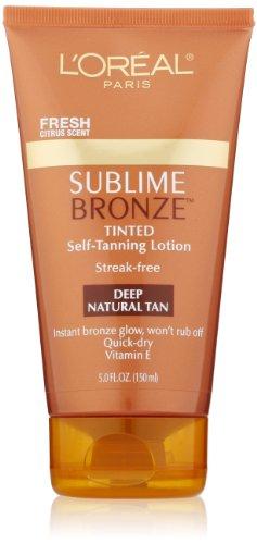 L'Oreal Paris Sublime Bronze Tinted Self-Tanning Lotion, Deep Natural Tan, 5.0 Ounce