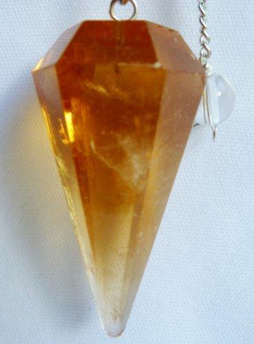 Multifaceted Honey Calcite Pendulum