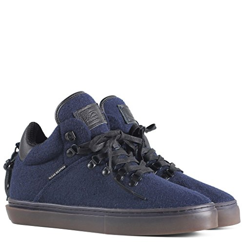 Clear Weather One-Ten Mid Top Shoes - Navy Wool 4 Men's / 5.5 Women's