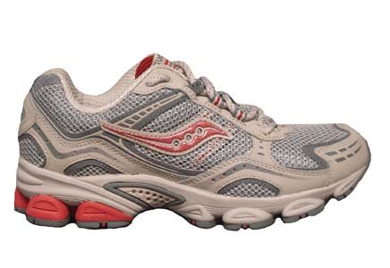 Saucony Women's Grid Excursion Tr3 Tan/Grey/Red Trail Running Shoes, Women's