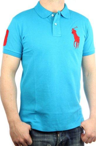 Polo by Ralph Lauren Big Pony Mens Polo-Shirt turquoise, slim fit, men shirt