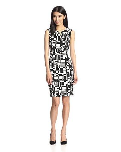 Ellen Tracy Women's Graphic Sheath Dress