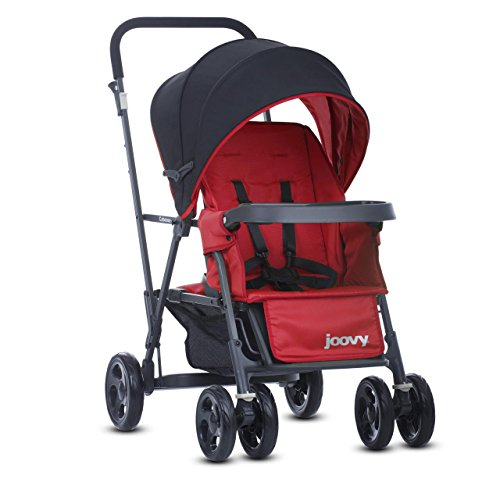 Find Bargain Joovy Caboose Graphite Stand On Tandem Stroller, Red