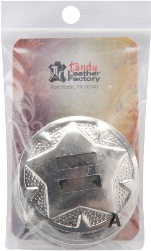 """Tandy Leathercraft 1-1/2"""" Slotted Round Concho with Star Design 10 Pack 1320-03"""