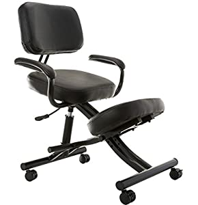 Sierra Comfort SC-350 Ergonomic Kneeling Chair, Black