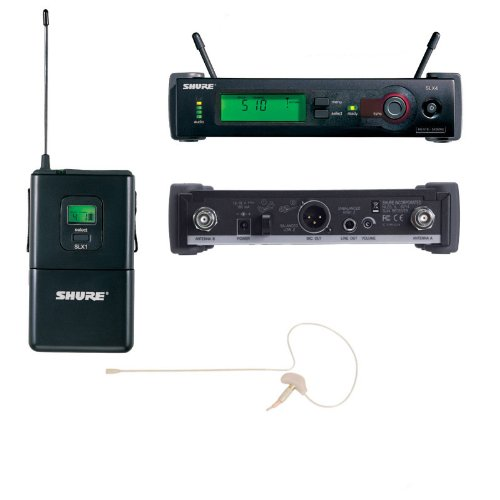 Shure Slx14 Wireless System With Osp Hs-09 Earset Microphone