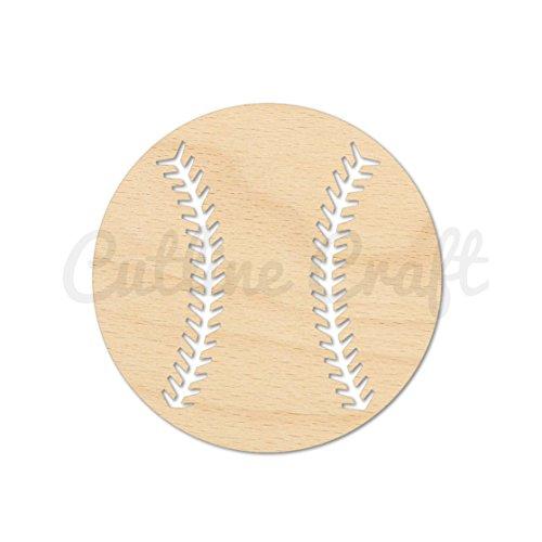 Baseball Style 1346, Wooden Cutouts, Crafts Embellishment, Gift Tag or Wood Ornament (Baseball Cutout)