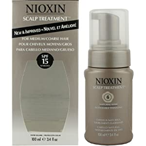 Nioxin Scalp Treatment SPF 15 for Medium/Coarse Hair System 6, Natural Hair | Noticeably Thinning Hair And Scalp Treatments