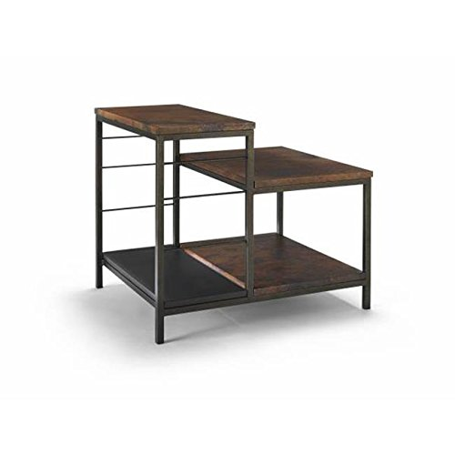 Homeware  Sawyer Copper Tiered End Table with Hand Rubbed Weathered Iron Finish