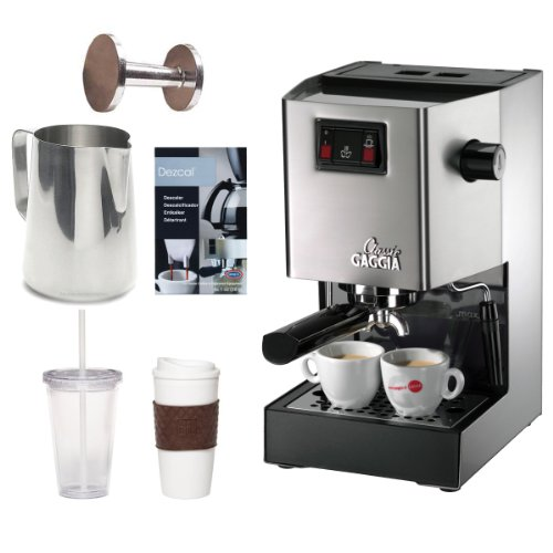 Gaggia 14101 Classic Espresso Machine Brushed