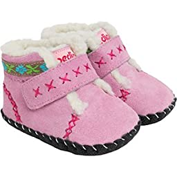 pediped Originals Rosa Crib Shoe (Infant/Toddler),Pink,Small (6-12 Months)